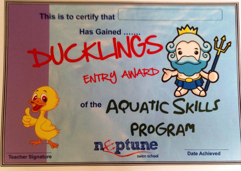 Ducklings Certificate and Badge