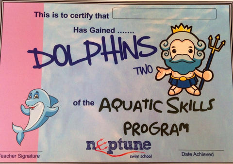 Dolphin Certificate and Badge