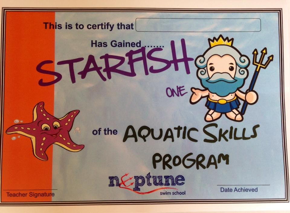 Starfish Certificate and Badge