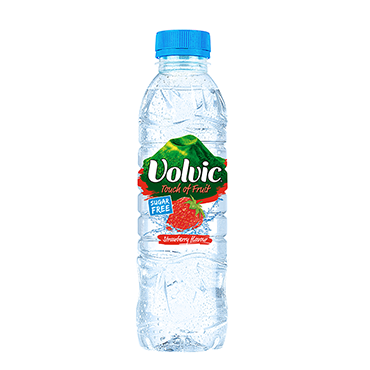 strawberry flavoured water