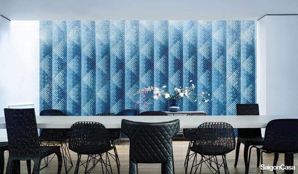Mosaic Bisazza Pyramid Blue