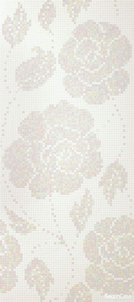 Mosaic Bisazza Winter Flowers Bianco