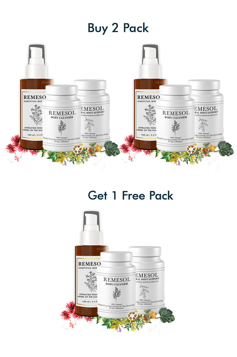 Doctor's Recommended and Clinically Proven Remesol Holistic Super Saver Pack Buy 2 Get 3rd Free