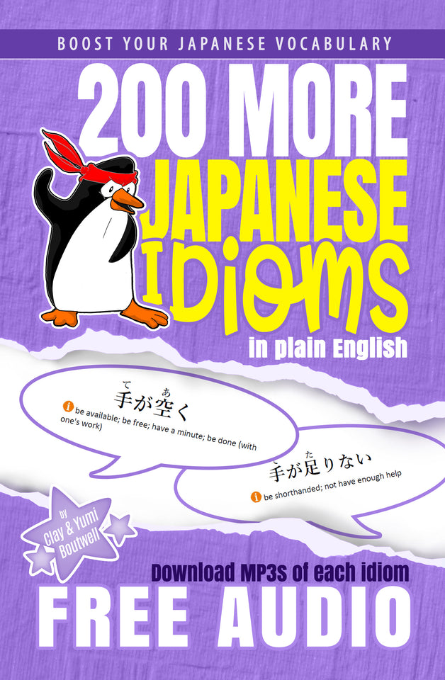 Japanese Vocabulary Booster Value Pack (4 eBook BUNDLE: 101 & 200 Japanese Idioms, Kotowaza, and Sound Words) [DIGITAL DOWNLOAD] - The Japan Shop