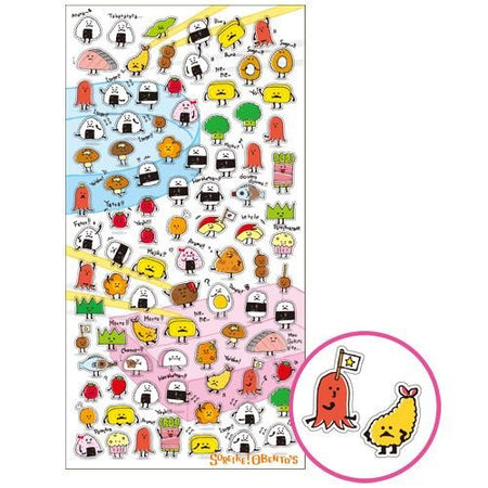 Kawaii Japanese Food and Fruit Sticker Sheet - The Japan Shop