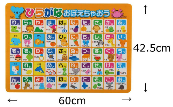 Large Japanese Hiragana Bath Poster for Kids - The Japan Shop