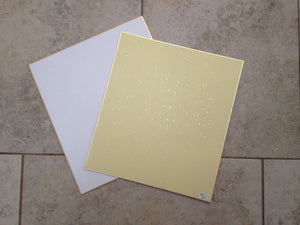 "PARTIAL Japan Art Shikishi Board 9.5 x 10.75"" Gold Bordered for Japanese Art or Calligraphy (Pack of 36) - The Japan Shop"