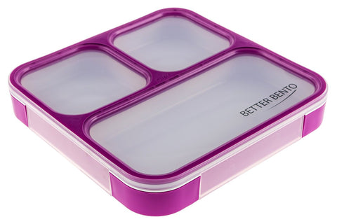Better Bento 100% Leak Proof Lunch Box - Great for School, Portion Control, and Meal Preparation