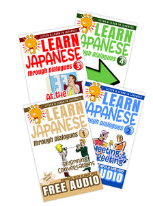 Japanese Dialogues Value Bundle [4 Paperback Set] - The Japan Shop