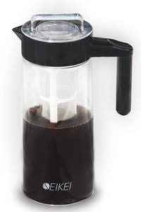 SEIKEI Cold Brew Coffee Maker for Iced Coffee, Tea, and Fruit Infused Water, Glass Pitcher, 44 Ounce Capacity - The Japan Shop