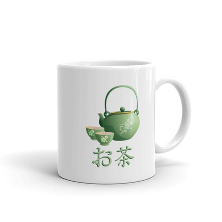 Ocha Japanese Green Tea with Kanji Mug - The Japan Shop