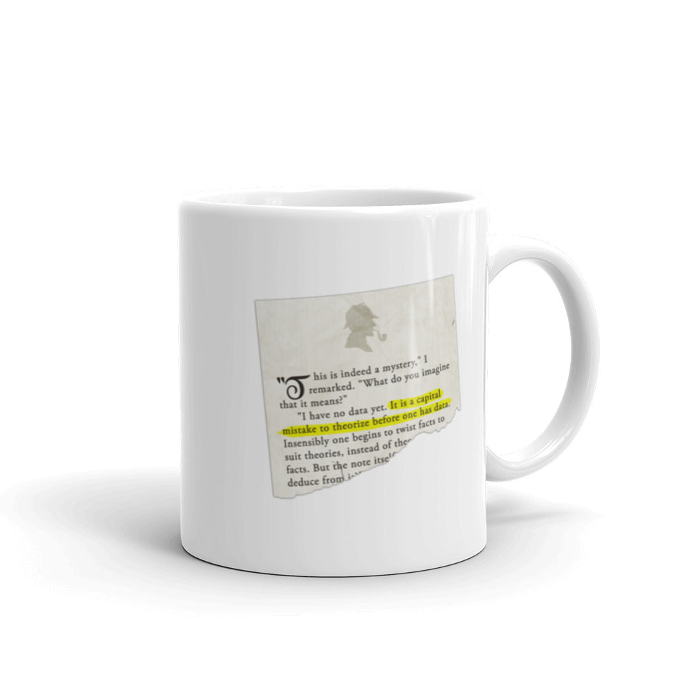 It is a Capital Mistake to Theorize Before one has Data Sherlock Holmes Mug - The Japan Shop