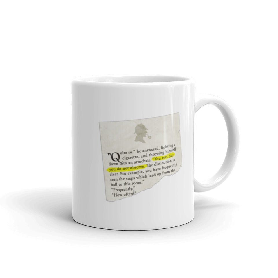 You See, but You Do Not Observe Sherlock Holmes Mug - The Japan Shop