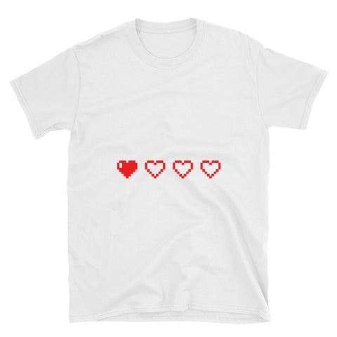 Running Low on Health Gamers Pixel Heart Health Points Shirt