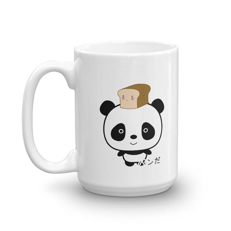 Cute and Kawaii Panda with Bread Pan Da! in Japanese Mug - The Japan Shop