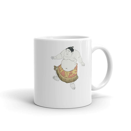 Happy Sumo Wrestler Dance Japanese Themed Mug - The Japan Shop