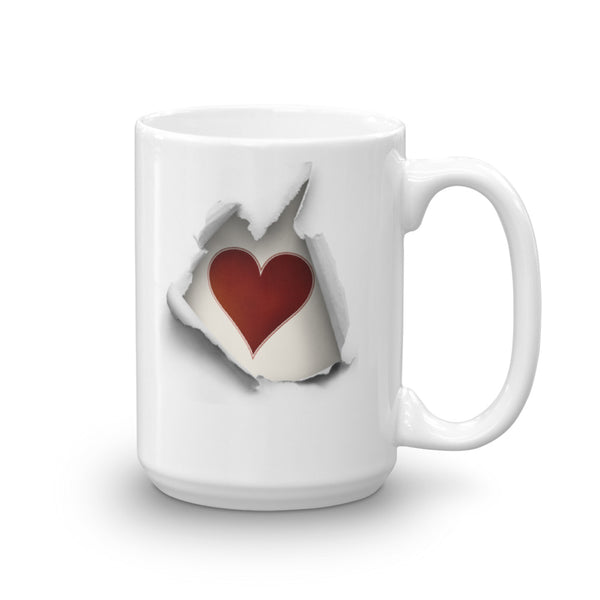 Heart Breaking Out Mug