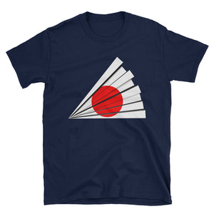 Beautiful Japanese Flag Fan Traditional Style Shirt Short-Sleeve Unisex T-Shirt - The Japan Shop