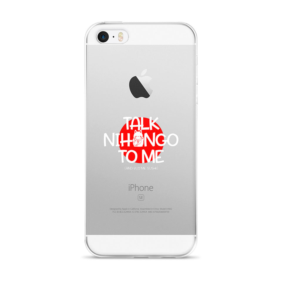 Talk Nihongo to Me and Bring me Sushi for Japanese Learners iPhone Case - The Japan Shop