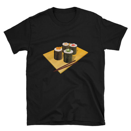 Makizushi Sushi Roll with Chopsticks Japanese Short-Sleeve Unisex T-Shirt - The Japan Shop