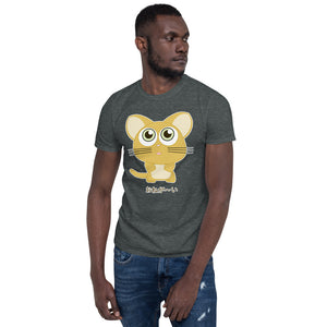 Cute Kitty saying Onega~i Please in Japanese Short-Sleeve Unisex T-Shirt - The Japan Shop