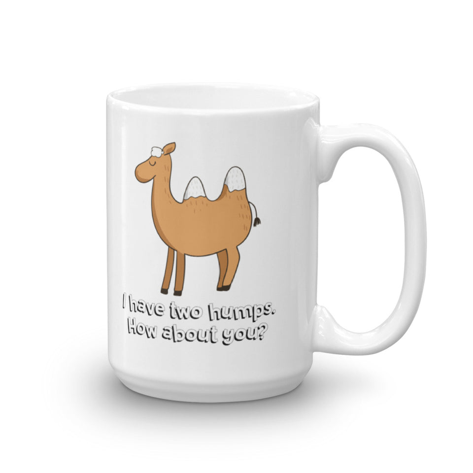 I have two Humps. How about you? Cartoon Camel Mug - The Japan Shop