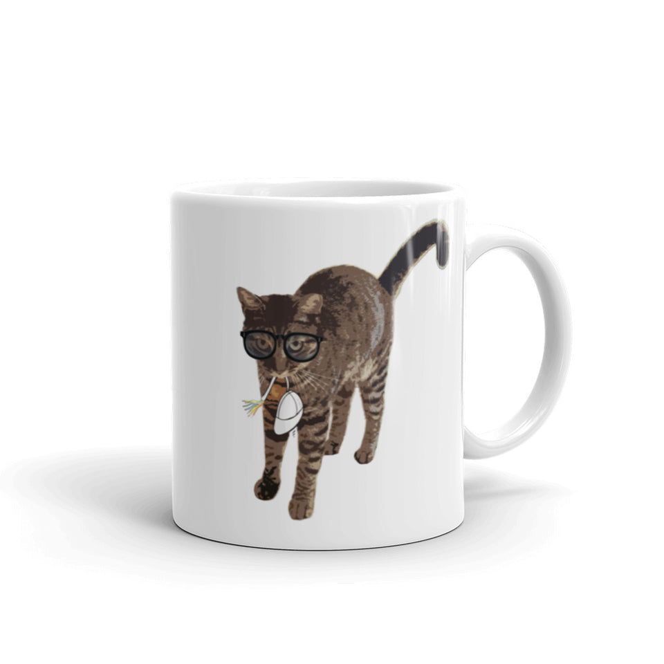 Cat and Mouse and Glasses Funny Mug - The Japan Shop