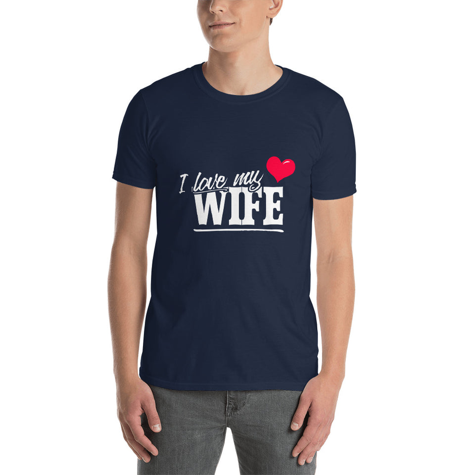 Mens Romantic Couples Shirt I love my Wife Short-Sleeve Unisex T-Shirt - The Japan Shop