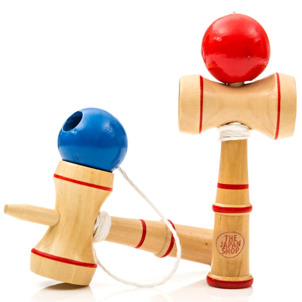 The Japan Shop Pocket Kendama Wooden Mini Traditional Japanese Toy 2 Pack Set - The Japan Shop