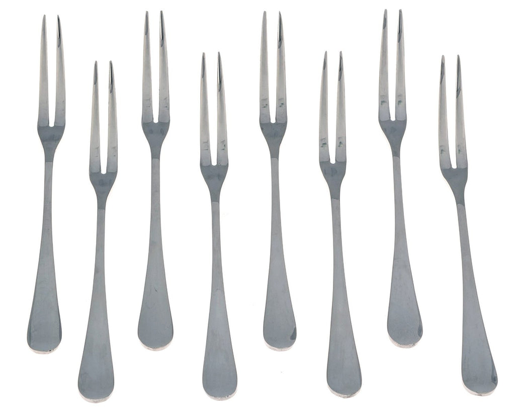 Seikei Bistro Appetizer Cocktail and Fruit Forks - 8 Piece Set - Stainless Steel - The Japan Shop