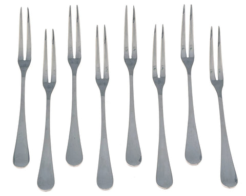 Seikei Bistro Appetizer Cocktail and Fruit Forks - 8 Piece Set - Stainless Steel