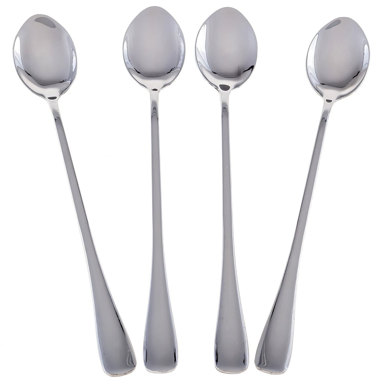 Seikei Bistro Ice Cream Spoons Tea, Coffee, or Dessert Long Handle Stainless Steel 4-spoon Set - The Japan Shop