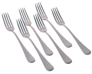 Seikei Bistro Dinner Fork Set Modern Style Stainless Steel Forks, 7.75-Inch - The Japan Shop