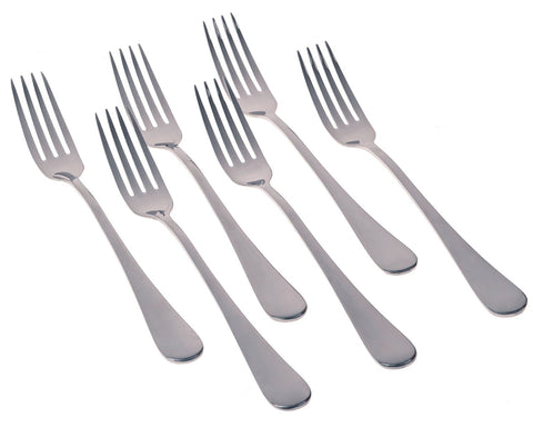 Seikei Bistro Dinner Fork Set Modern Style Stainless Steel Forks, 7.75-Inch