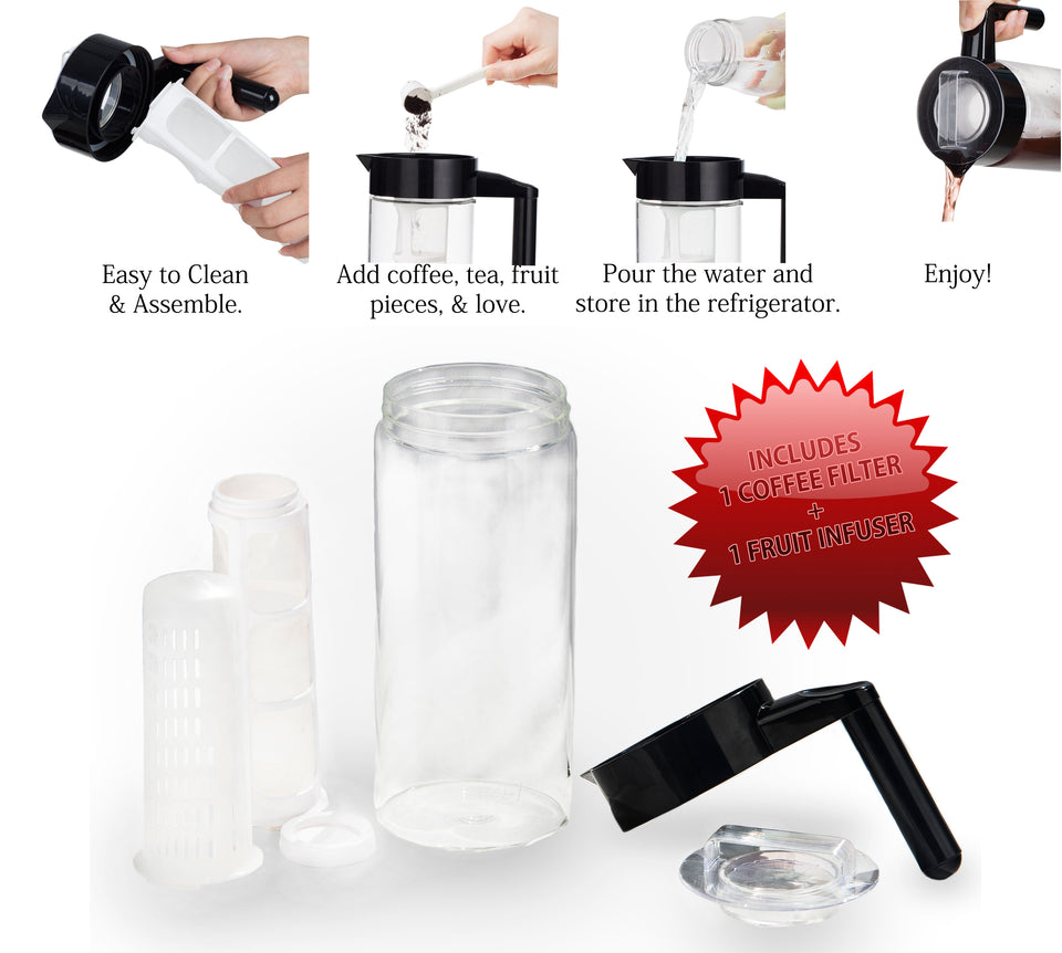 WHOLESALE Lot of 6 Brand New Seikei Glass Cold Brew Coffee Makers