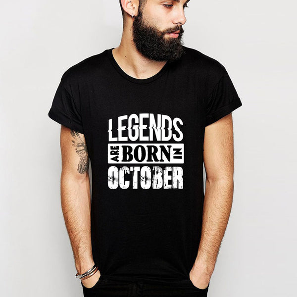 Awesome Tees Legends Are Born In October Birthday T-Shirt