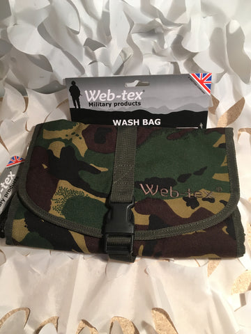 Web-Tex camoflage wash bag