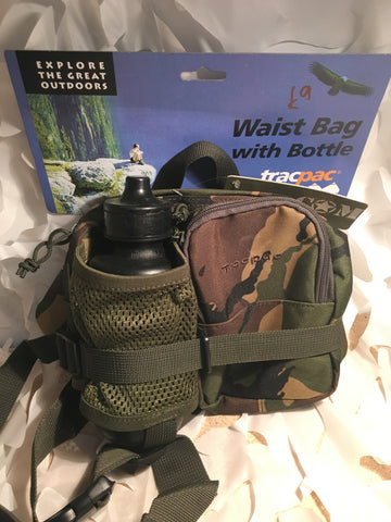 Tracpac camoflage waistbag with bottle