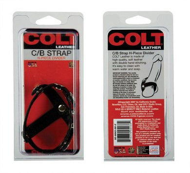 Colt Leather Cock And Ball Strap - H-Piece Divider