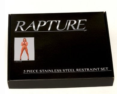 5-piece Stainless Steel Restraint Set - Large
