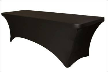 Black Spandex Table Cover