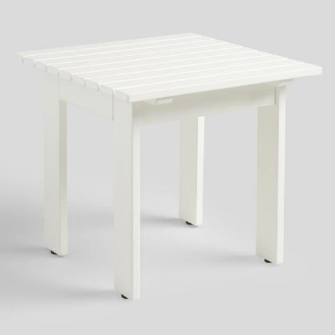 Adirondack White End Table