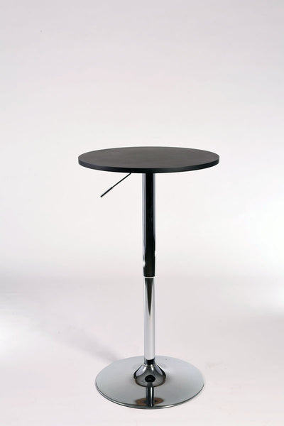 Stand-Up Black & Chrome Round Cocktail Table