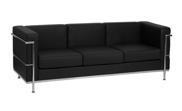 Black & Chrome Sofa
