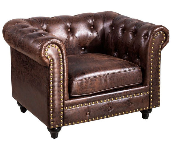 Chesterfield Chocolate Chair