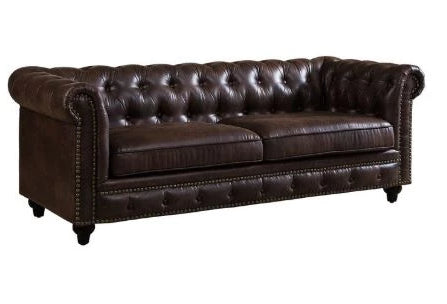 Chesterfield Chocolate Sofa