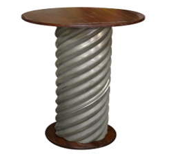 "Corrugated 36"" Cocktail Table"