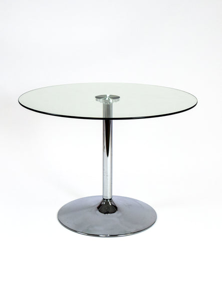 "Glass Top Round 40"" Table"