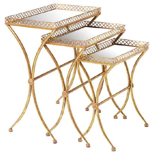 Antique Gold Nesting End Tables