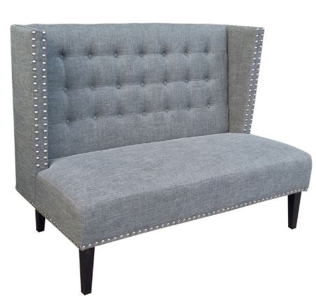 Charcoal Nailhead Loveseat